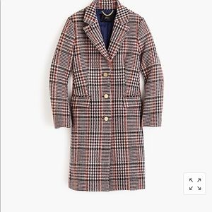 J. Crew Petite Plaid Single-Breasted Topcoat